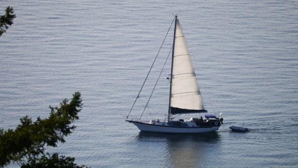 sailboat on salish sea