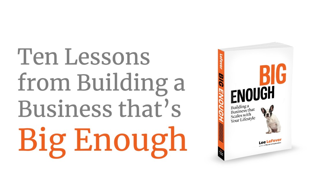 Free Event: Ten Lessons from BIG ENOUGH