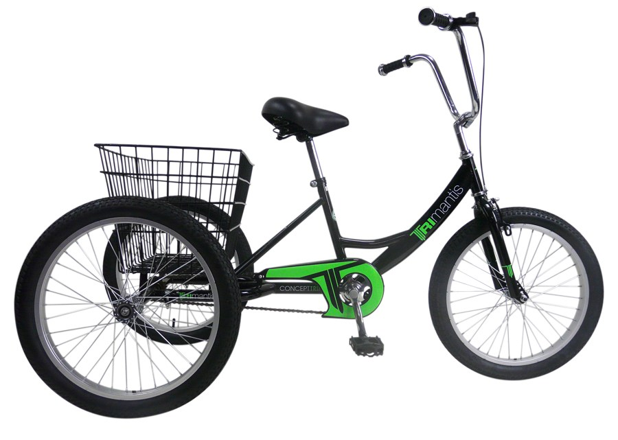 Concept Tri-Mantis Boys Single Speed Trike 20″ Wheel (Black)