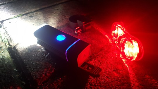 USB Rechargeable Headlight with Rear Light (240lm)