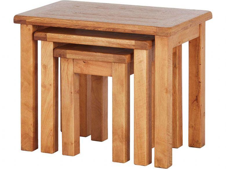 Fairfax Oak Nest Of 3 Tables