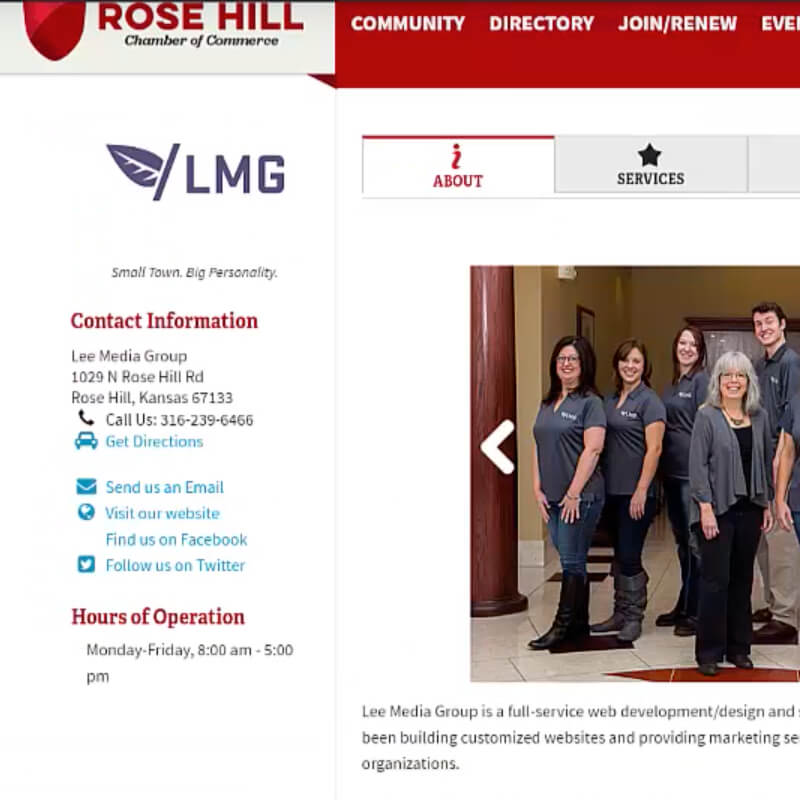 How to Create Your Rose Hill Chamber Member Profile