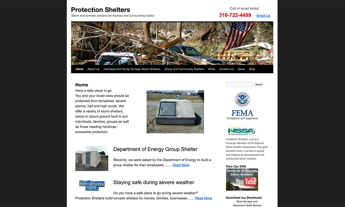 Protection Shelters Old Website