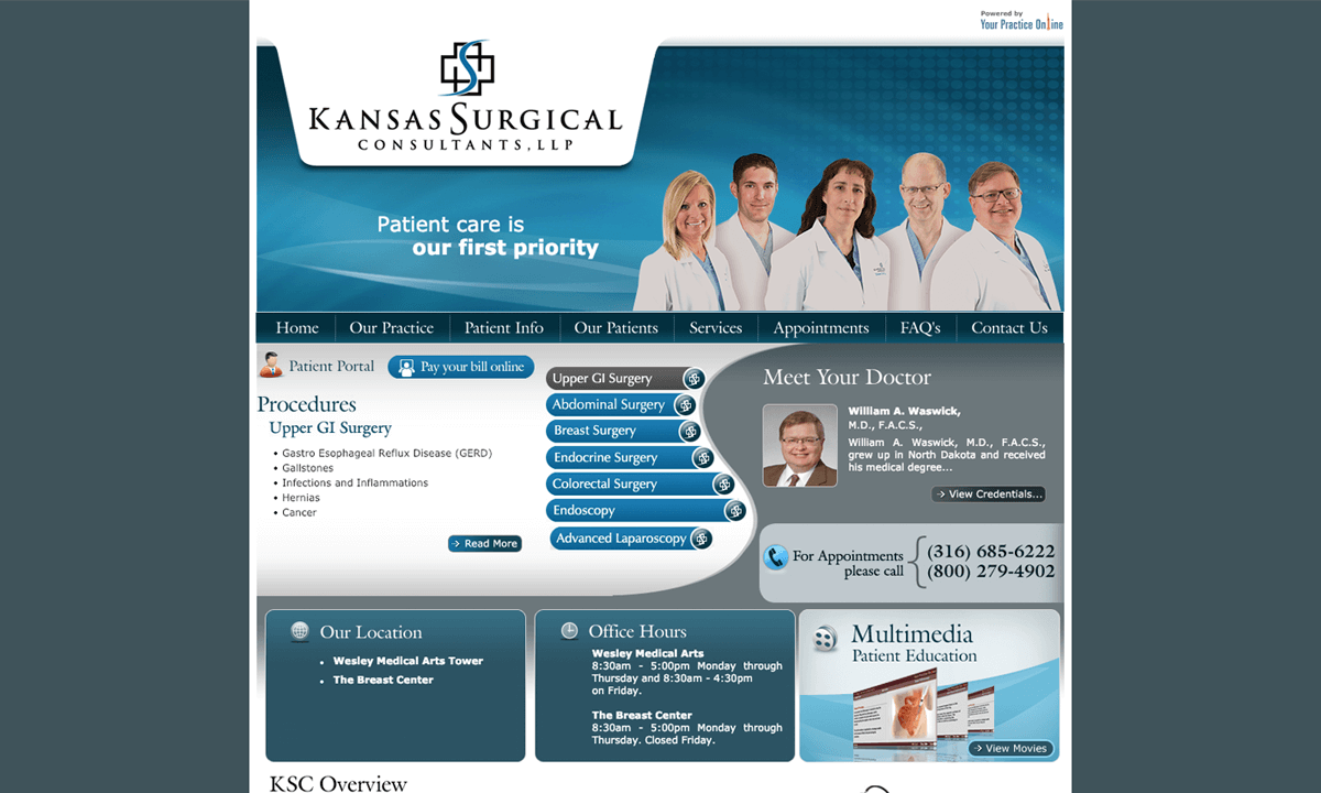 Kansas Surgical Consultants Old Website