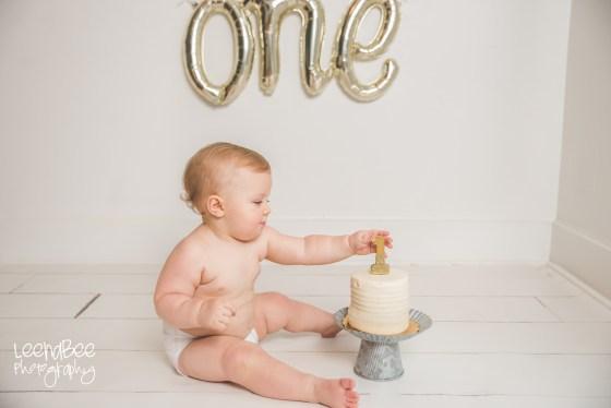 Dublin ohio first birthday cake smash photography-7