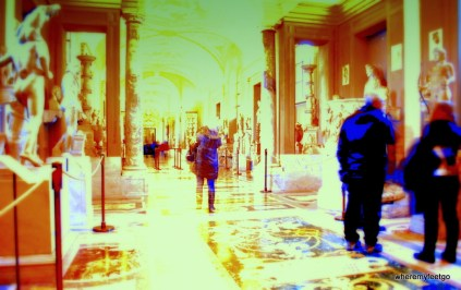 for some reason this looks like a frame from a 3D movie. (Vatican Museum, Vatican City)