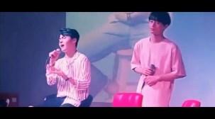 PRODUCE 101 Kim Yongguk Sings If It Is You at Seongri's Fanmeet.mp4_000028233