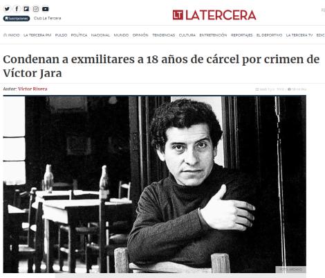 Condena por crimen de Víctor Jara