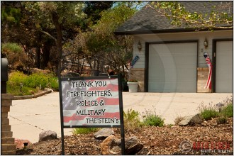 Mountain Shadows: Thank You Firefighters, Police & Military