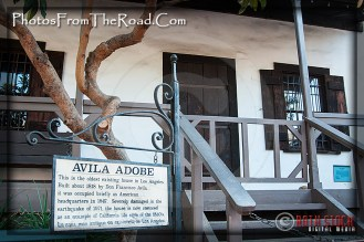Atmosphere of Olvera Street - Avila Adobe