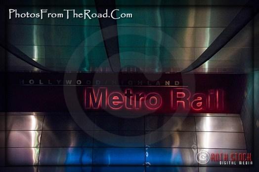 MetroRail Station at Hollywood & Highland