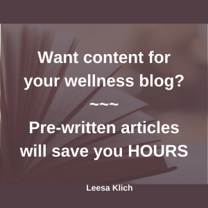 content for wellness blog