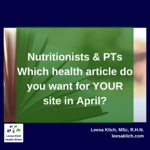 which health article do you want