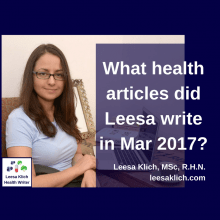 What health articles did Leesa write in March 2017?
