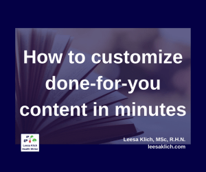 customize done-for-you content