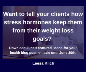 stress and weight loss