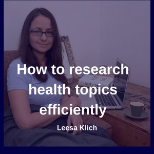 Research health topics