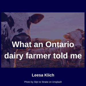 dairy farmer told me