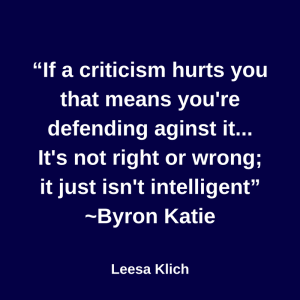 If a criticism hurts you