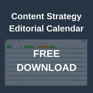 Content strategy editorial calendar