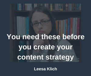 Before content strategy