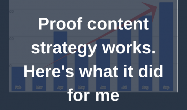 Proof content strategy works. Here's what it did for me.