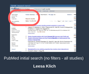 PubMed before review filter