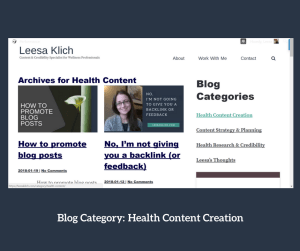 Categories ideas health content creation