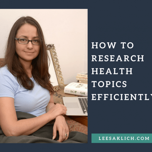 How to research health topics efficiently