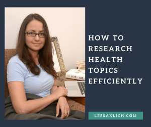 research health topics efficiently