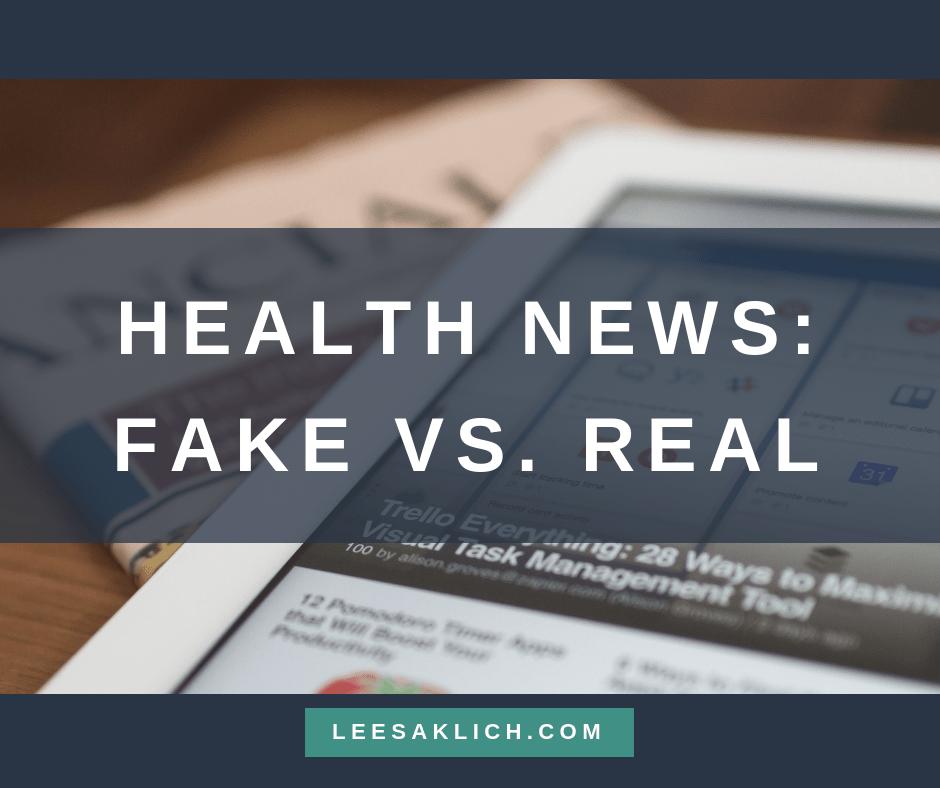 Health news - fake vs real