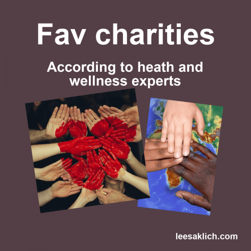 Top charity organizations: 3 wellness pros tell us who and why