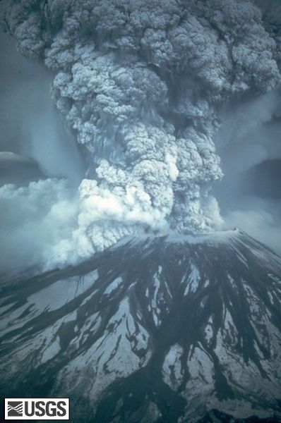 Mount St. Helens Eruption by USGS