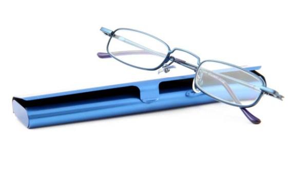 Extra platte leesbril INY Jack G12800 blauw