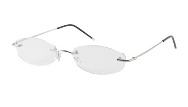 Leesbril Eschenbach randloos 291211 zilver/groen
