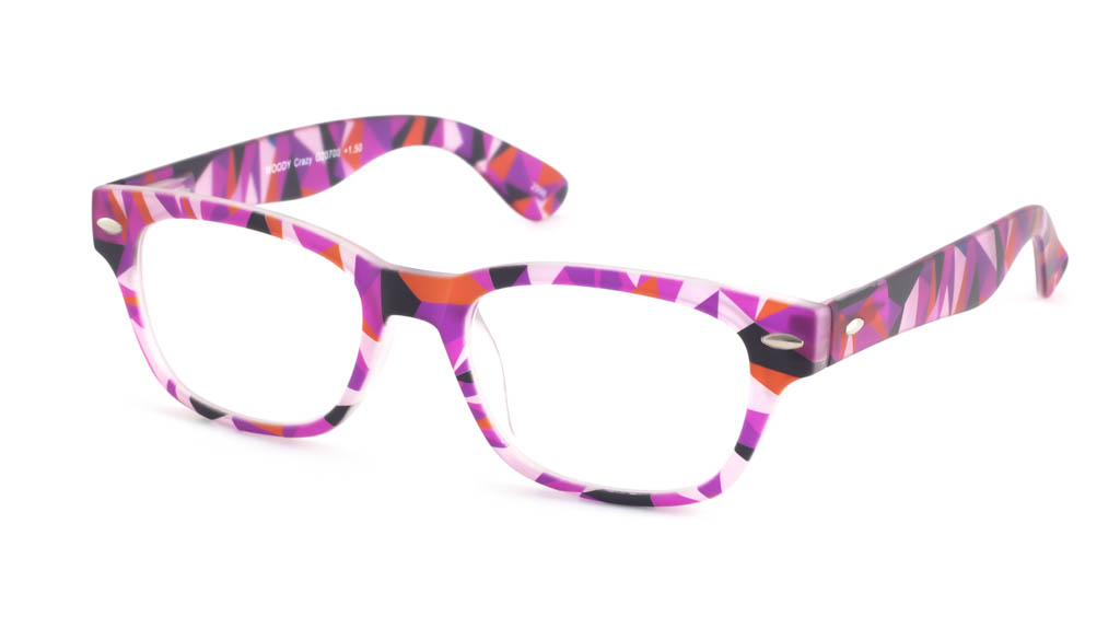 Leesbril INY Woody Crazy G20700 paars/roze
