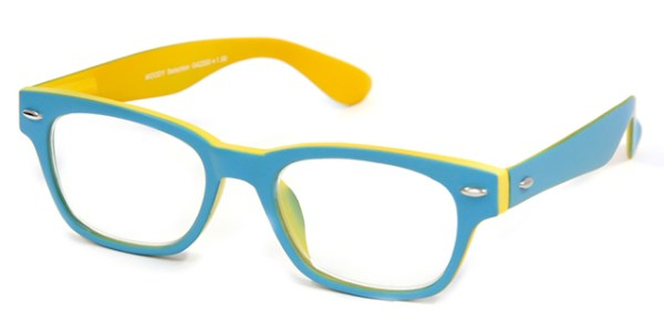 Leesbril INY Woody Double G42200 blauw/geel