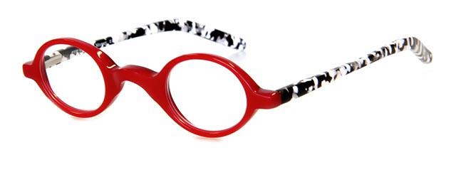 Leesbril Old money 2105 01 rood/gevlamd