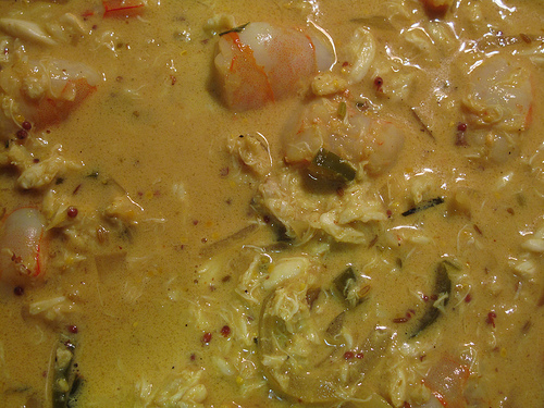 crab and prawn curry