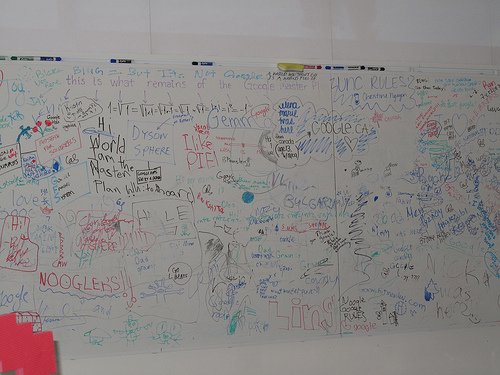 The mythic and cryptic Google whiteboard