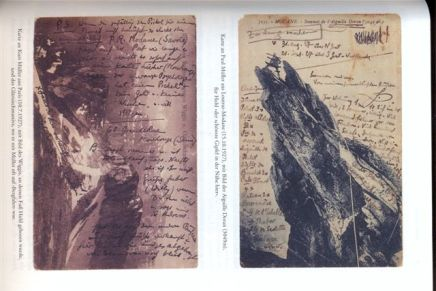 Ludwig Hohl, postkaarten met aantekening oa. Aguille Doran (3049m)