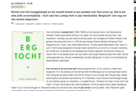 Herman Jacobs in Cobra.be: BERGTOCHT – LUDWIG HOHL