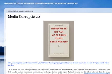 """Media Corruptie 20  Stan van Houcke over oa Zygmunt Bauman; """"Hebben we er iets aan als de rijken steeds rijker worden?"""""""