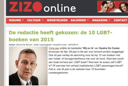 Beste LGBT boek van Zizo.be:  1. Op eenzame hoogte – Luc Boudens