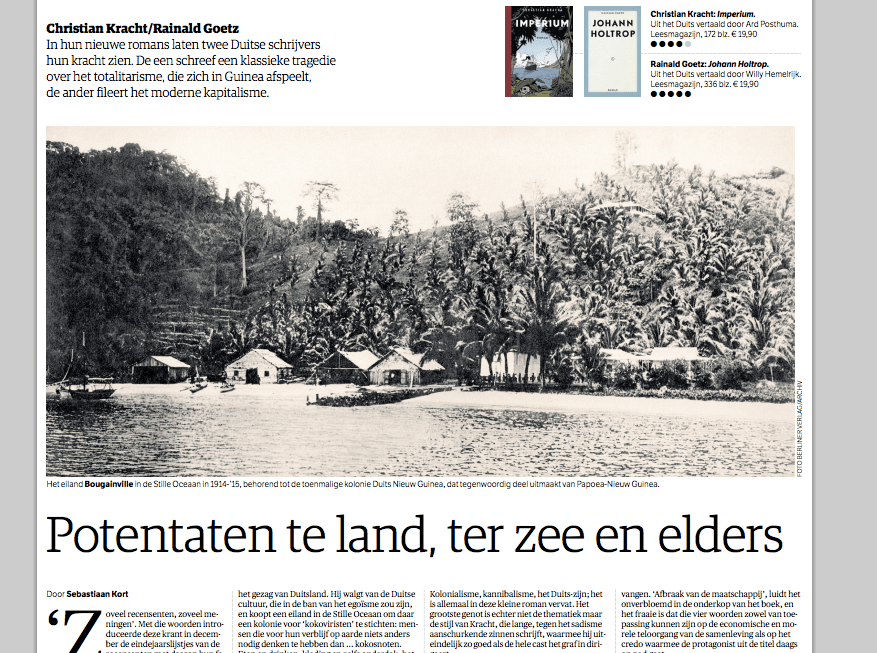 Potentaten ter land, ter zee  en elders
