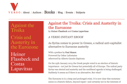 Leesmagazijn vertaald Against the Troika: Crisis and Austerity in the Eurozone door Heiner Flassbeck and Costas Lapavitsas