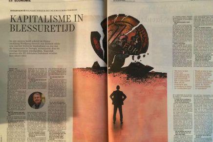 INTERVIEW : WOLFGANG STREECK ZIET DE EURO EUROPA VERDELEN  Kapitalisme in blessuretijd, 25 APRIL 2015 | Michiel Leen, De Standaard