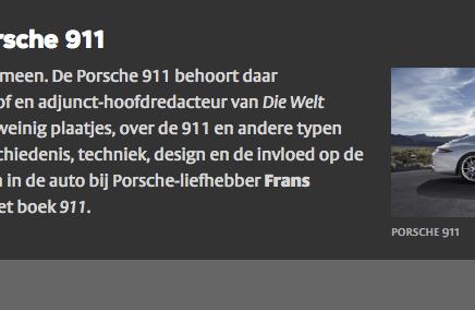 Dinsdag 9 Juni VPRO Nooit Meer Slapen:  De filosofie van de porsche 911