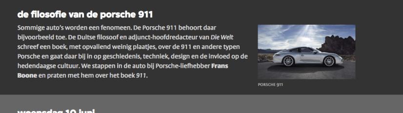 VPRO Nooit Meer Slapen De filosofie van de Porsche