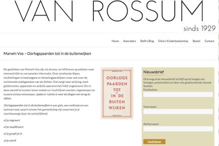 Boekhandel Van Rossum Aanraders: Marwin Vos – Oorlogspaarden tot in de buitenwijken
